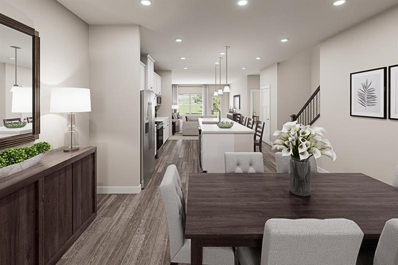 A beautiful open floorplan included