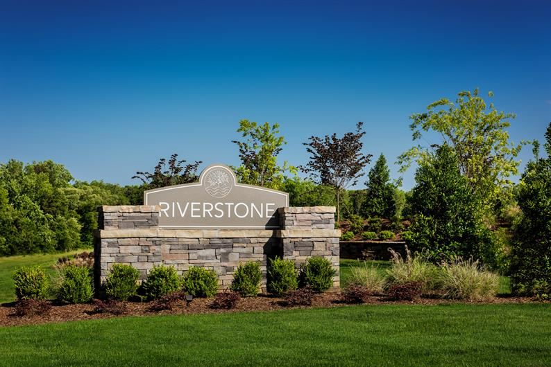 Riverstone's entrance Welcomes you Home