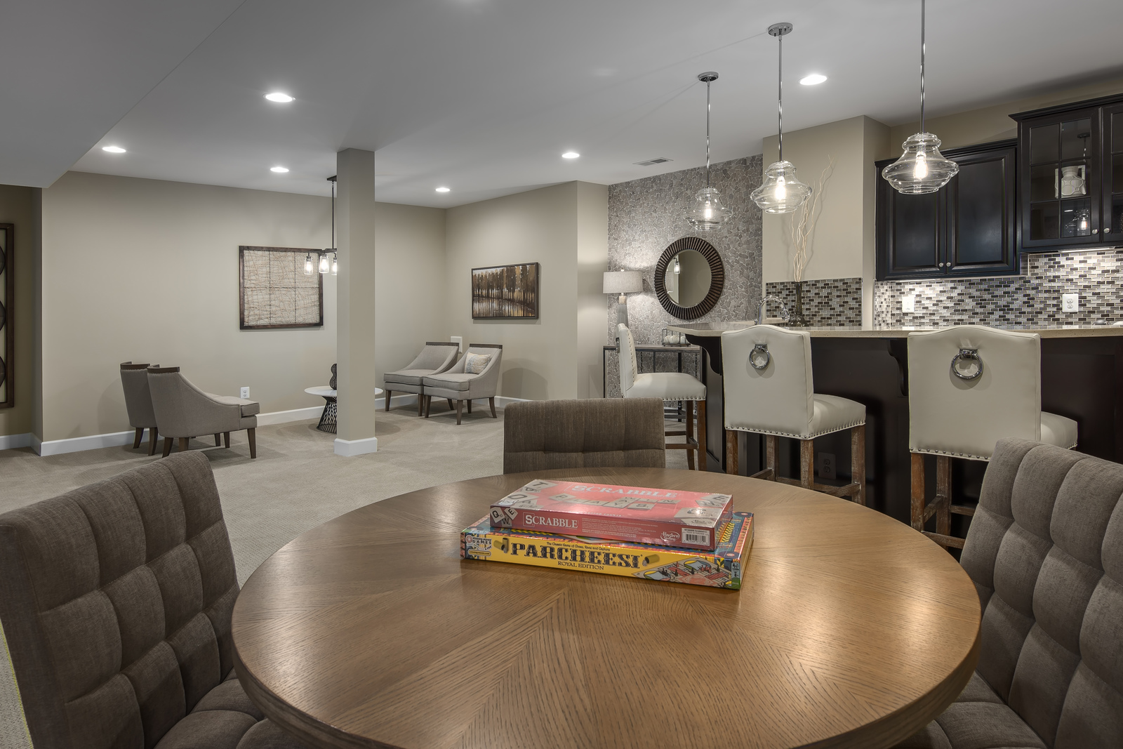 An included finished basement with a full bath rounds out your spacious new home, providing the perfect space for a game room