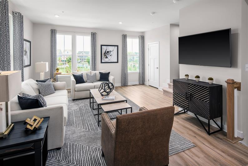 open floorplans so you don't miss a beat
