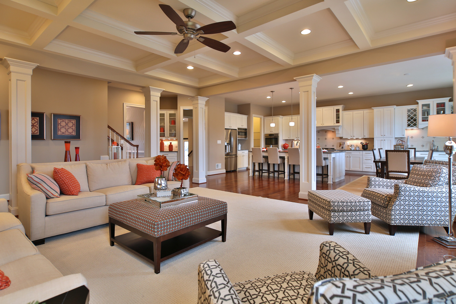 Coffered ceilings, arched doorways, and stately trim are just a few of the finishing touches to make the floorplan you choose your home sweet home.
