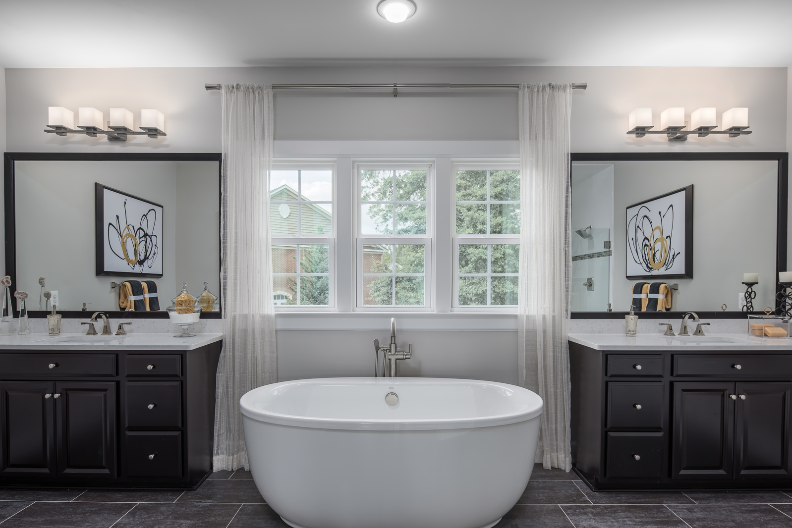 True luxury is a standing soak tub and separate shower—a whole new way to pamper yourself!