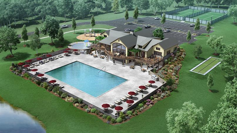ENJOY 3 FUTURE COMMUNITY POOLS, GYM AND 5,000+ Sq. Ft. CLUBHOUSE with resort-style living