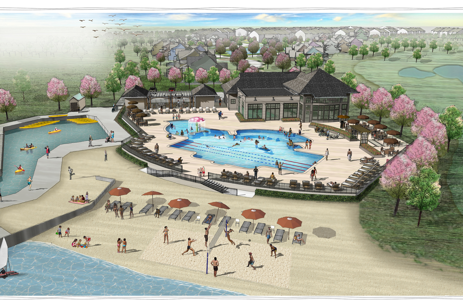 Enjoy the many amenities available at the community clubhouse, enjoy the pool or private beach, and take in stunning views of the Little Assawoman Bay