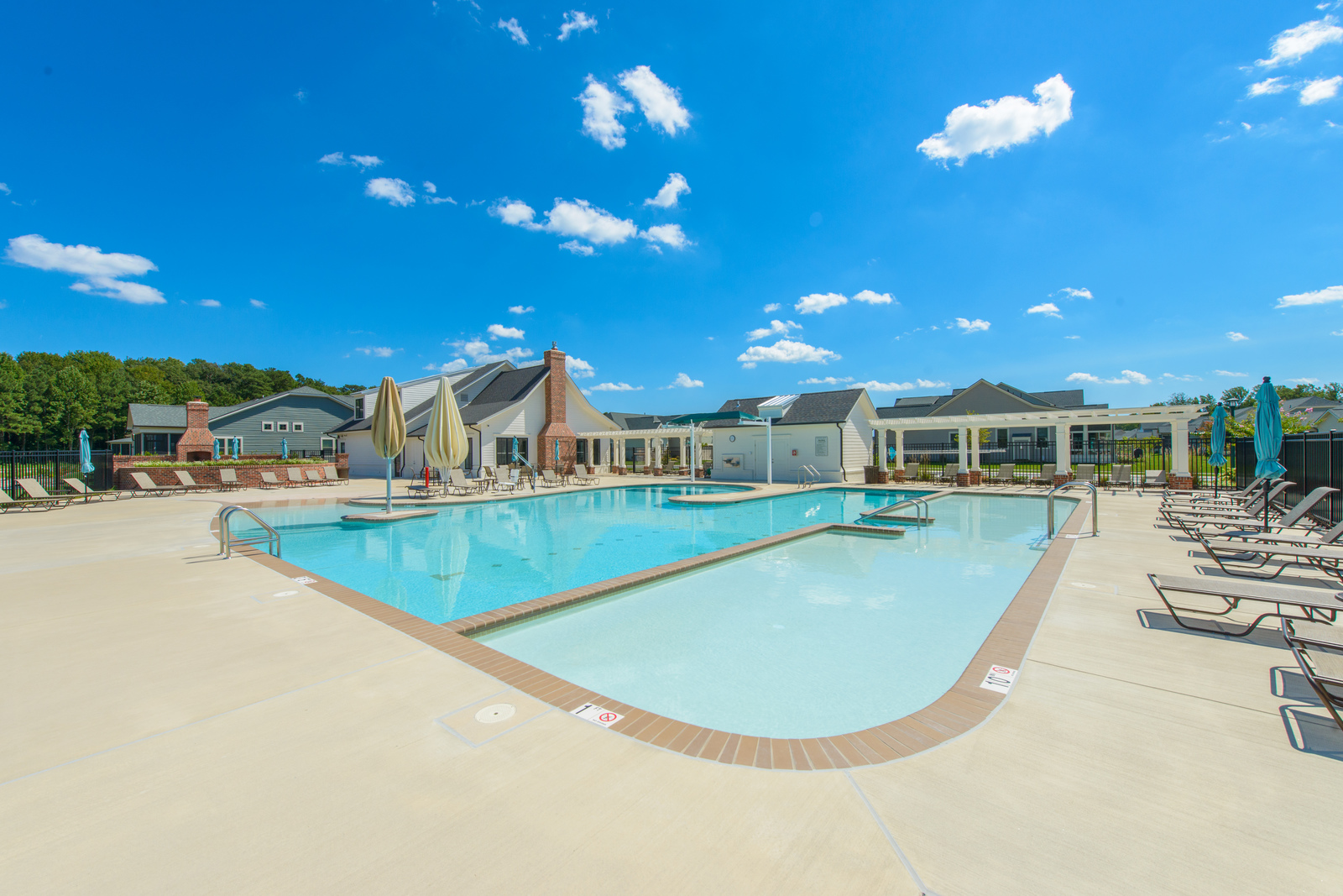 Enjoy all the amenities available within the clubhouse at Batson Creek Estates including a pool and fitness center.
