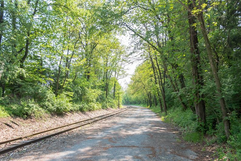 Heritage Rail Trail just beyond the community