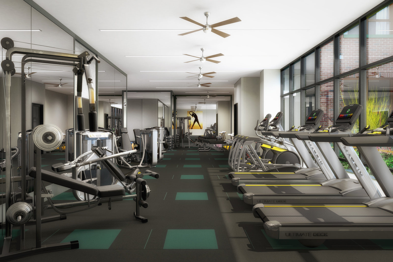 With ample room for cardio, strength training, or yoga, residents will love the energizing design of our fitness center.