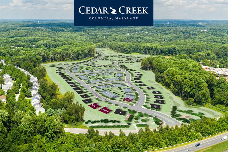 Aerial View of Cedar Creek by NVHomes