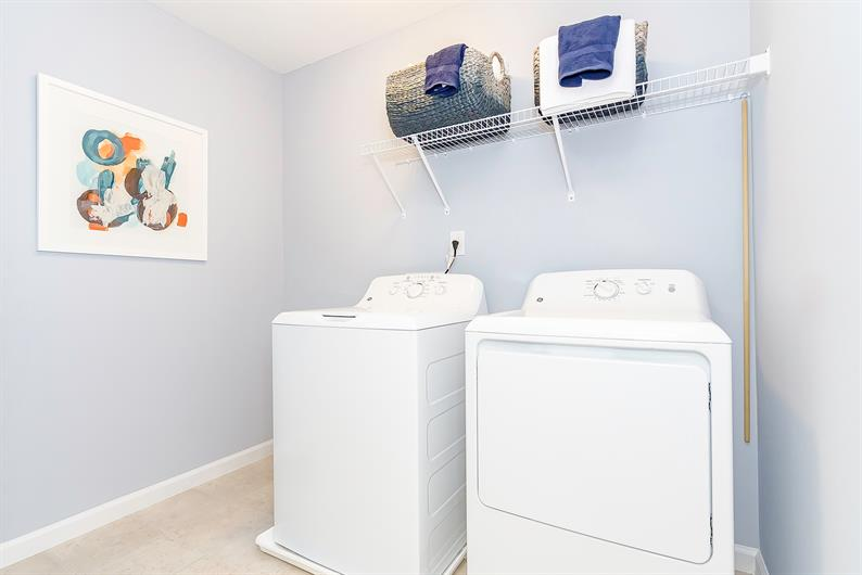 SKIP THE LAUNDROMAT WITH AN INCLUDED WASHER AND DRYER