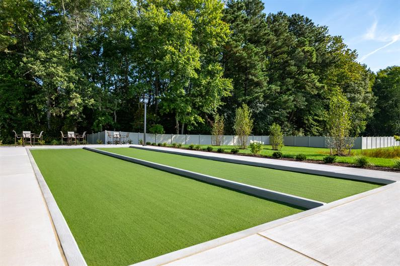 COMPETITIVE? PLAY A GAME OF BOCCE BALL OR PICKLE BALL