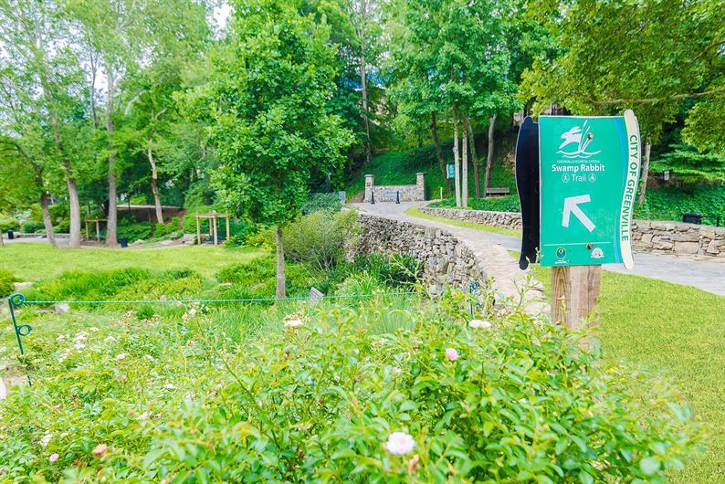 Front door access to the Swamp Rabbit Trail