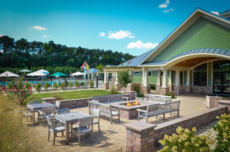 Meet or visit new friends at the community patio