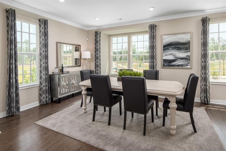 Large dining space