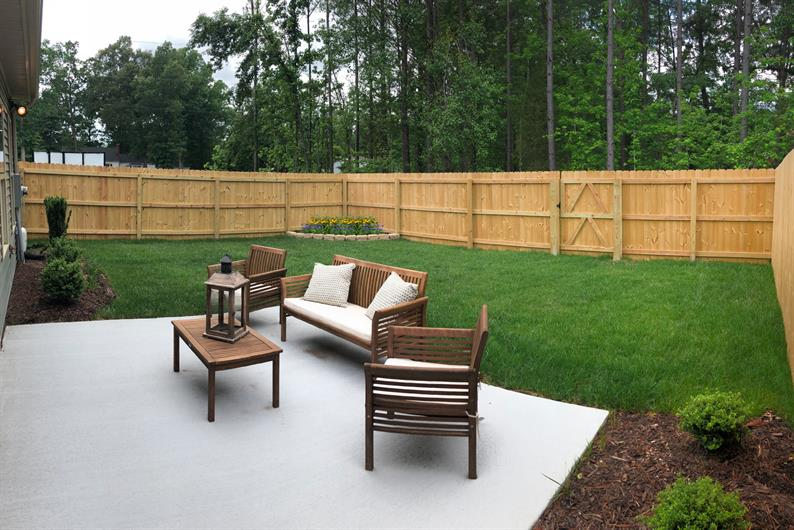 Large Private Backyards – Not your typical size back yards for Townhomes