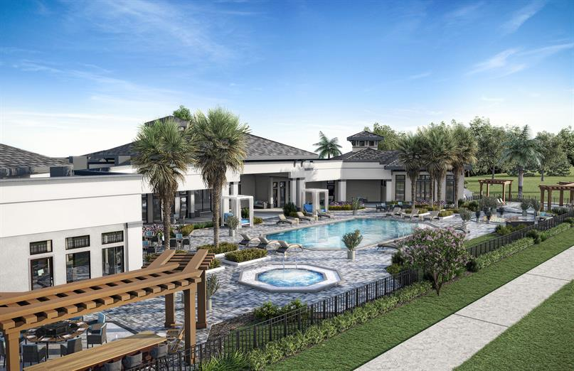 Lounge areas, resort style pool and more