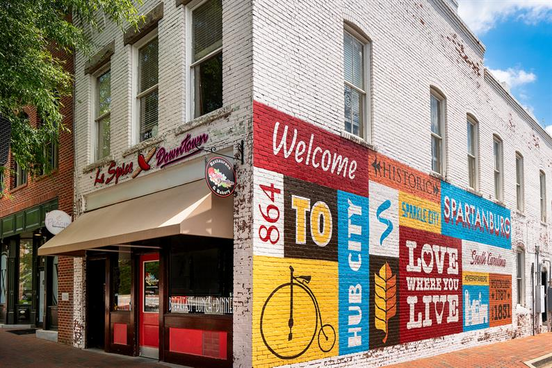 Downtown Spartanburg is just a few minutes away!