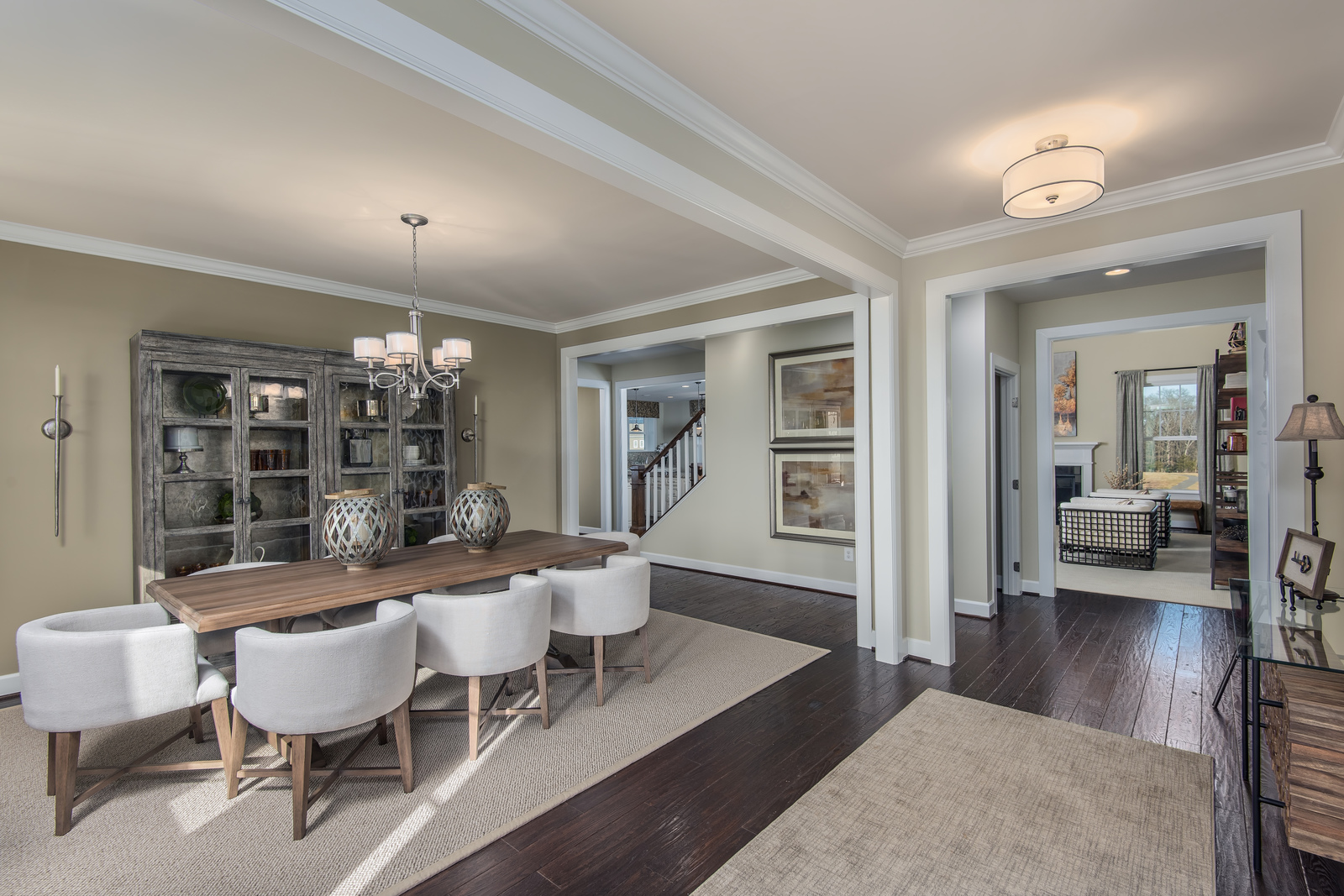 With both formal and informal dining rooms, NVHomes' newest designs offer lots of flexibility.