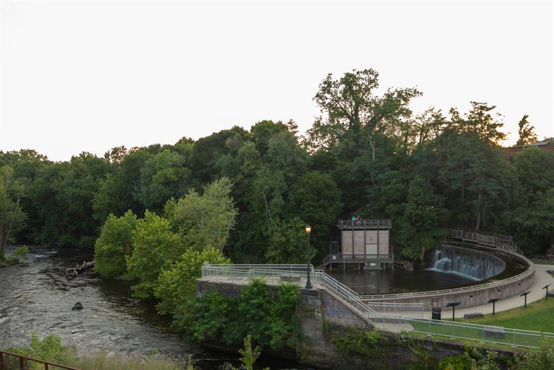 TAKE A MOMENT TO GET OUT AND ENJOY NATURE ALONG THE CUYAHOGA RIVER AT FRANKLIN MILLS RIVEREDGE PARK
