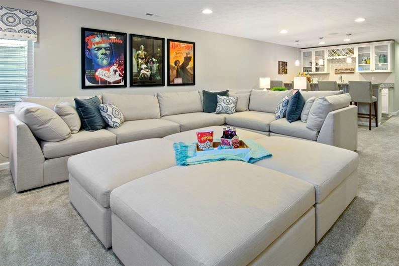 A FINISHED BASEMENT ADDS A WHOLE NEW LEVEL FOR ENTERTAINING