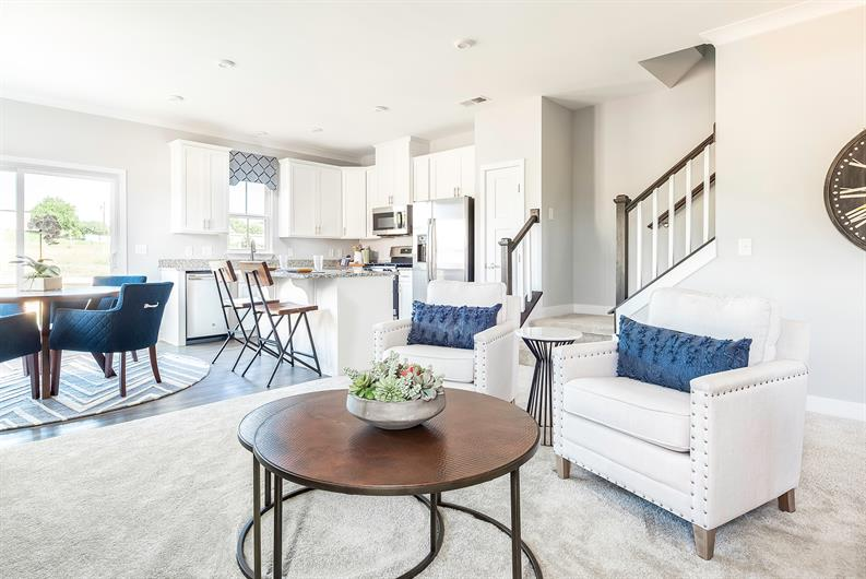 Open-concept floorplans perfect for entertaining