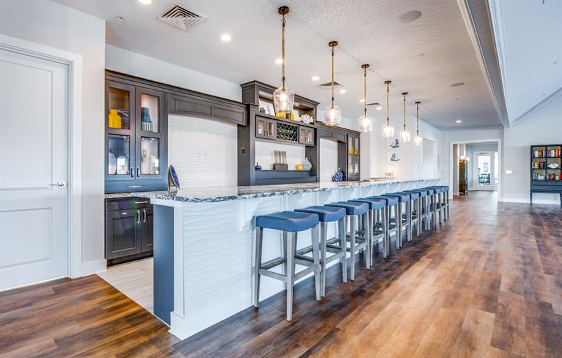 Meet new neighbors for happy hour at the clubhouse