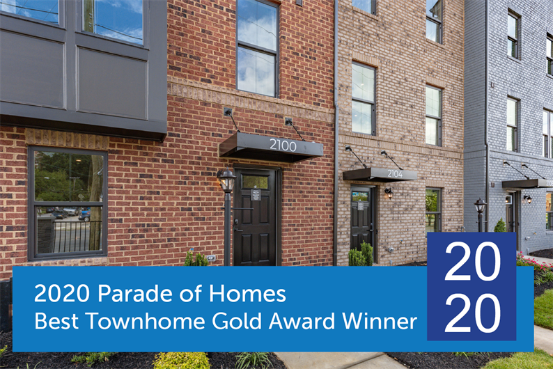 2020 Parade of Homes Best Townhome Gold Award Winner