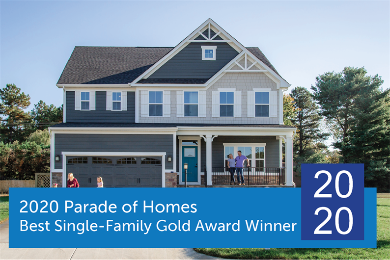 2020 Parade of Homes Single-Family Gold Award