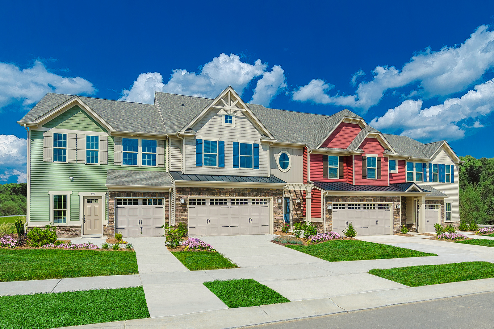 New Homes For Sale At Edison Square Townhomes In Concord