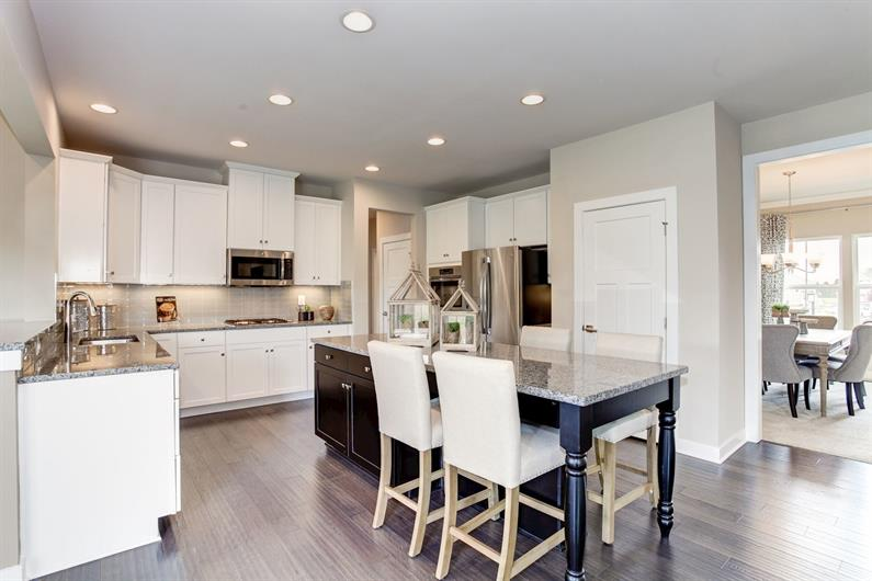 EACH FLOORPLAN OFFERS AN OVER-SIZED KITCHEN ISLAND