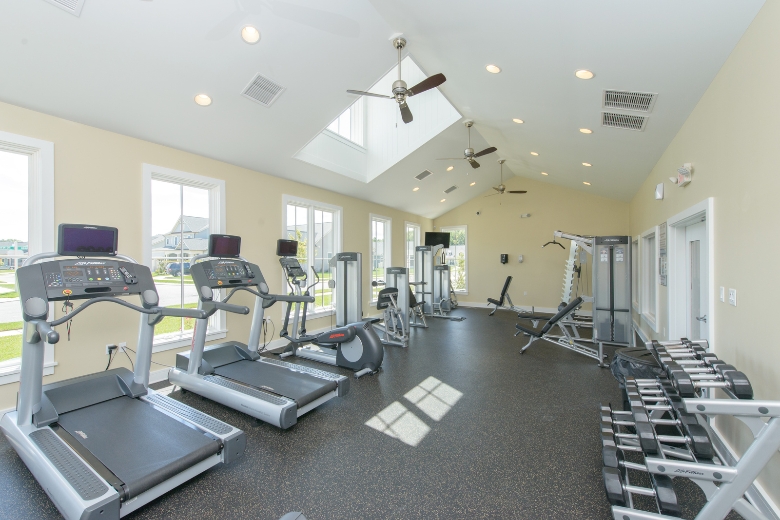 Don't worry about a membership - you've got a gym conveniently located in the community clubhouse!
