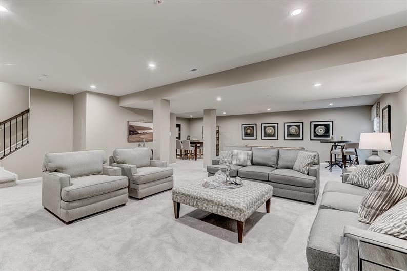 FINISHED BASEMENT REC ROOM INCLUDED