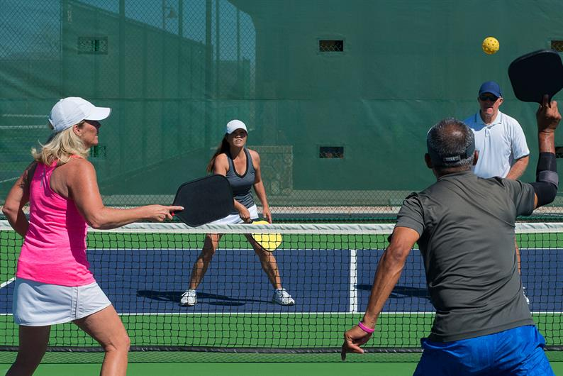 Stay active & competitive at nearby pickleball and tennis courts