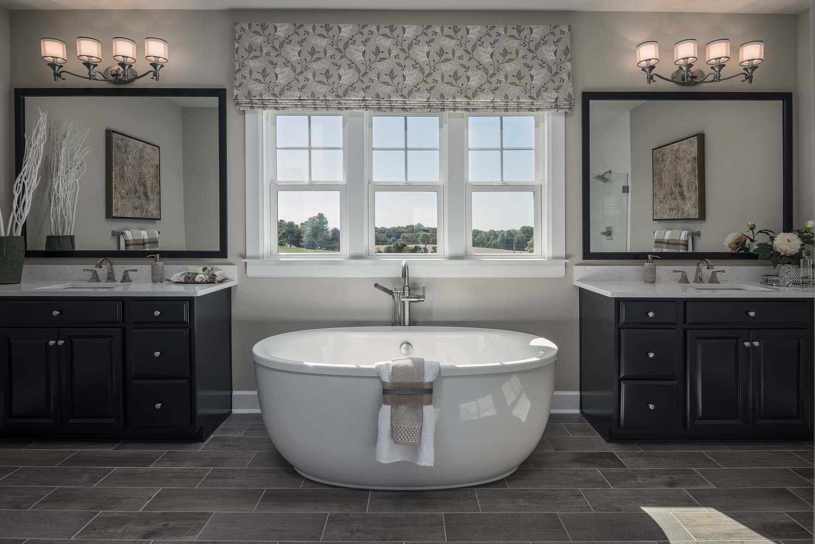 With walk-In showers and luxury soaking tubs, you won't need to leave home to feel pampered.