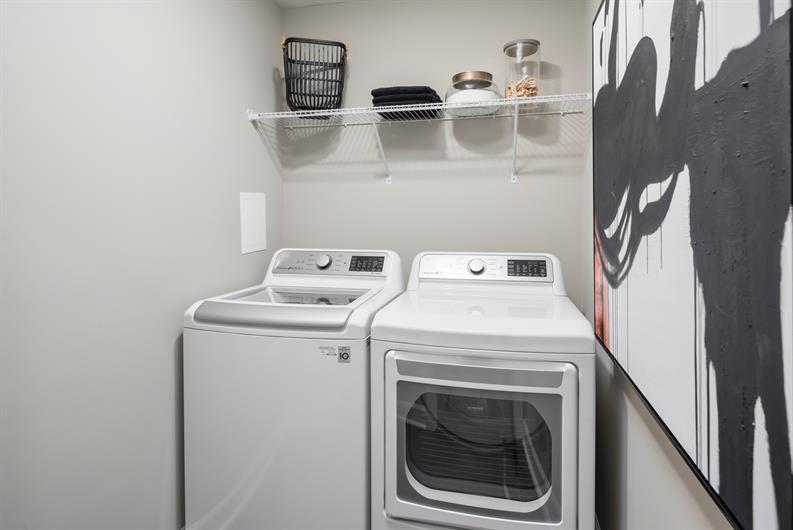 Bedroom Level Laundry