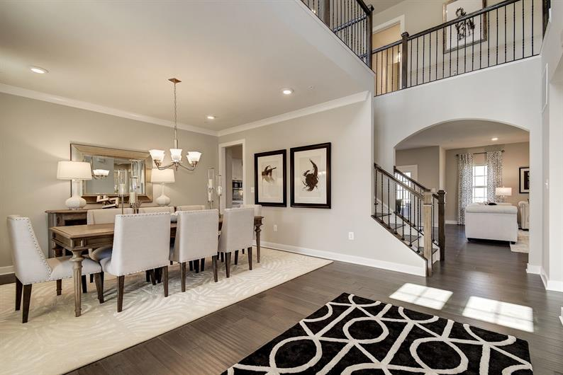 Airy two-story foyers
