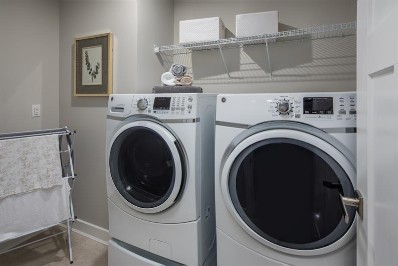 Laundry room in a convenient location