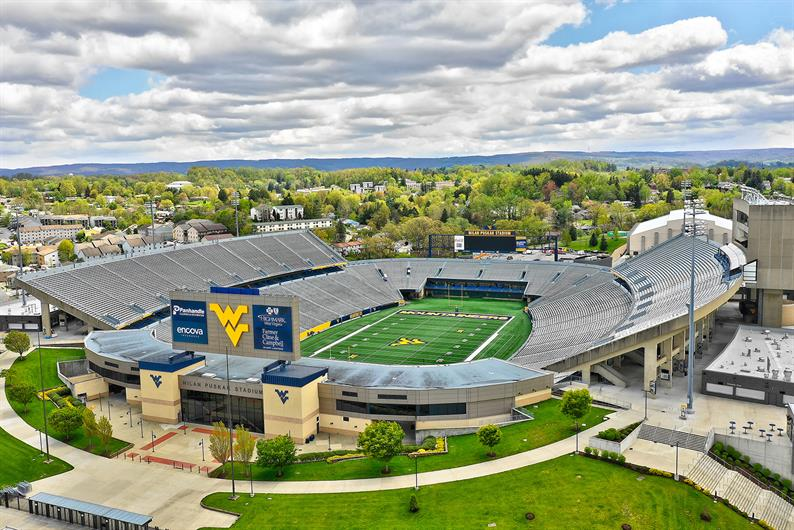 WVU is only 2.8 miles away