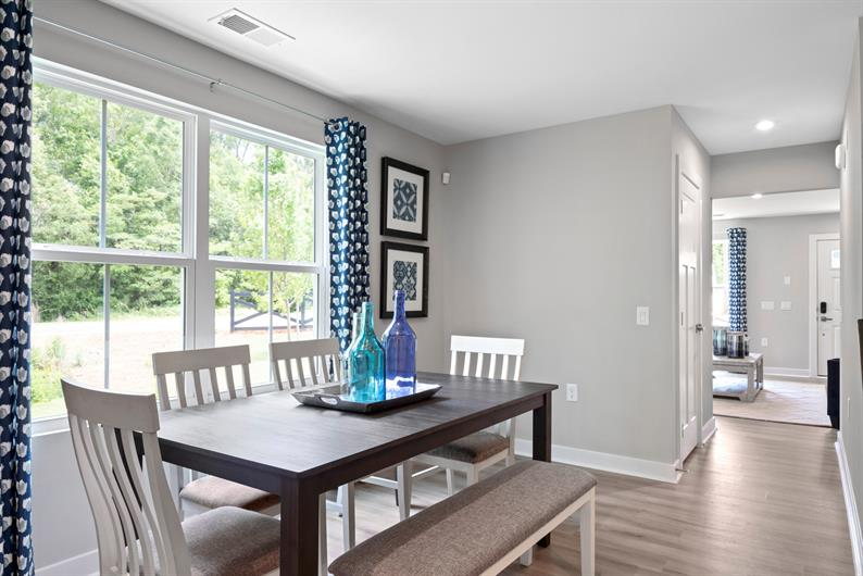 Dedicated dining space