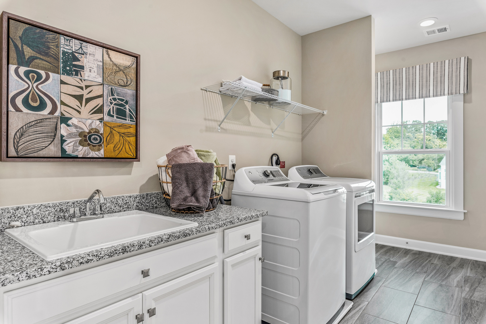 Even laundry day will be a delight in your new NV home.