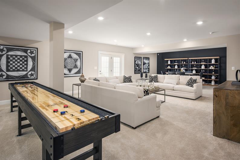 Optional finished basements