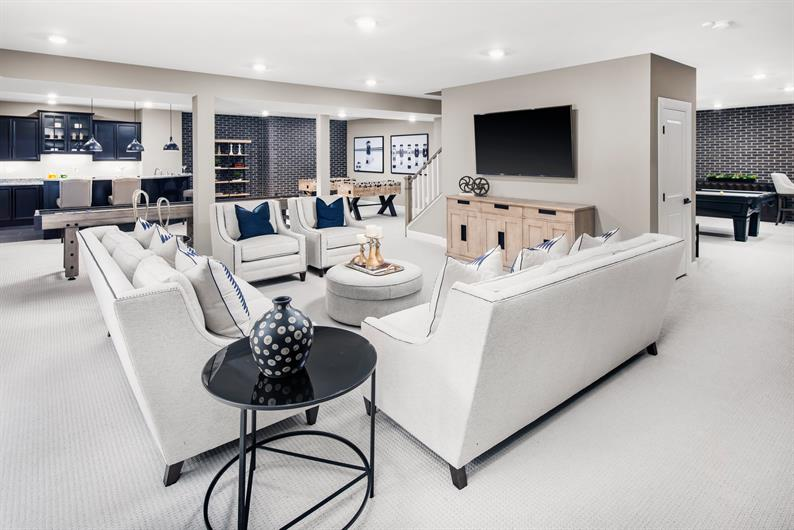 A Finished Rec Room is Included