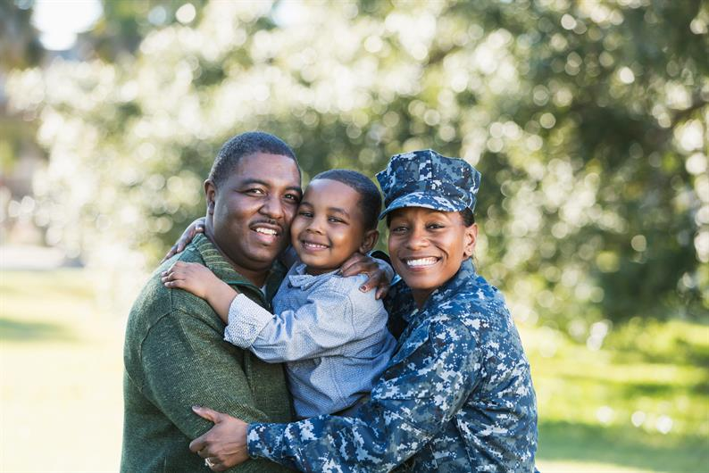 Here, we honor our military families