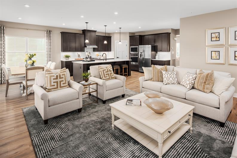 Open concept floorplans with space to entertain