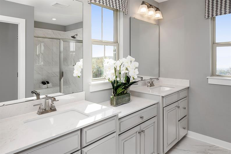 DUAL VANITIES FOR EASY MORNING ROUTINES