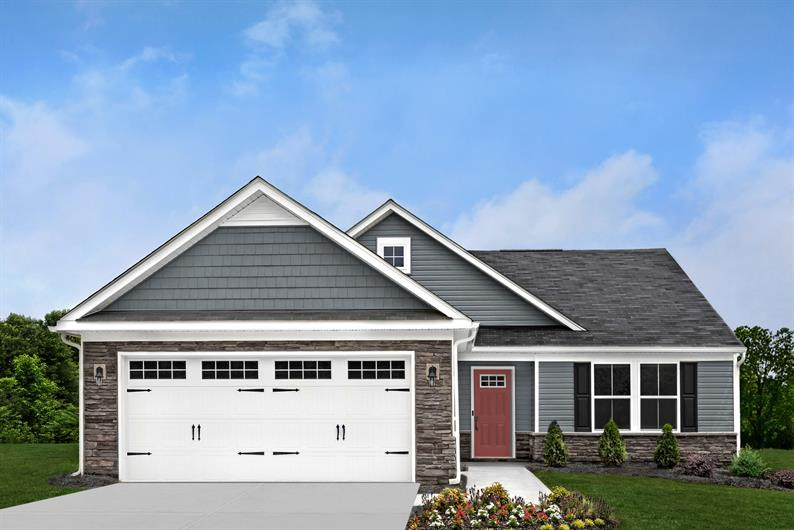 INCLUDED STONE DETAILS, 2-CAR GARAGES AND FULL BASEMENTS FOR STORAGE