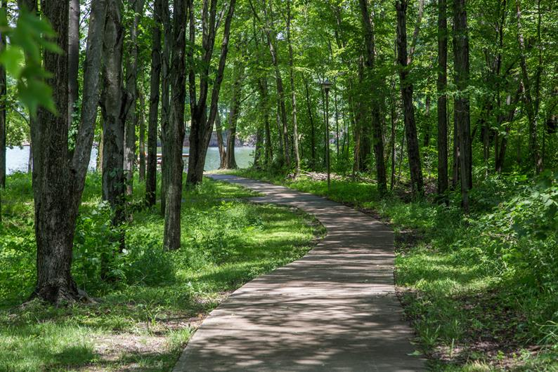 Walking trails connect in to the community