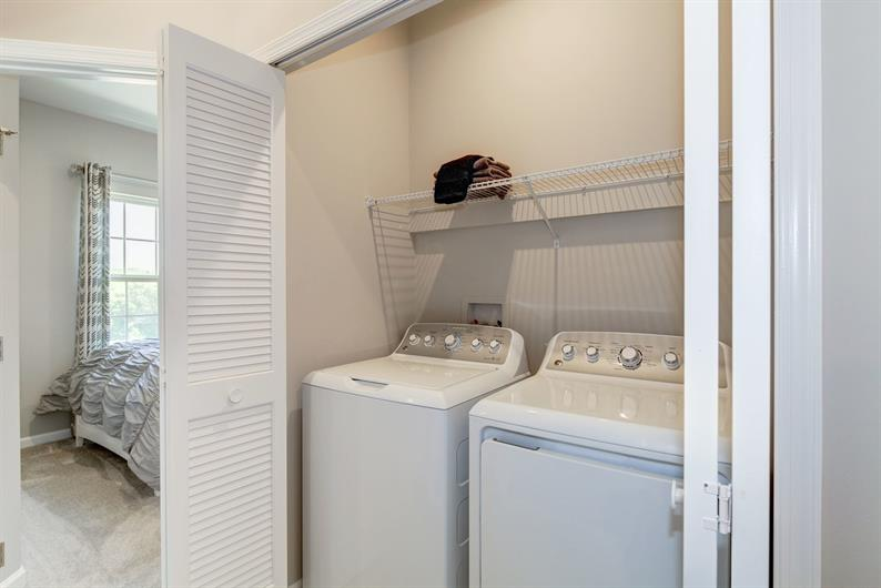 You'll love your bedroom level laundry room!