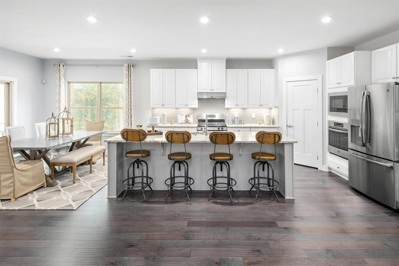 Have Space for Everyone in a Large Kitchen with Island