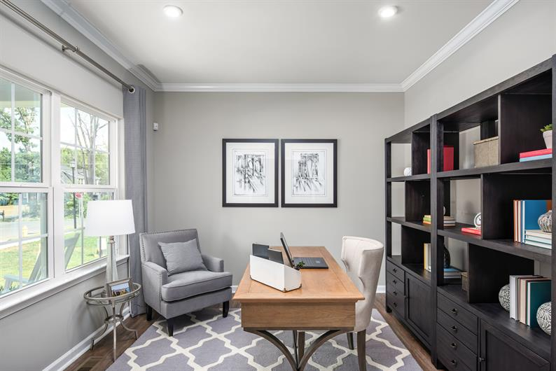 Extra spaces for a home office, flex space, and more