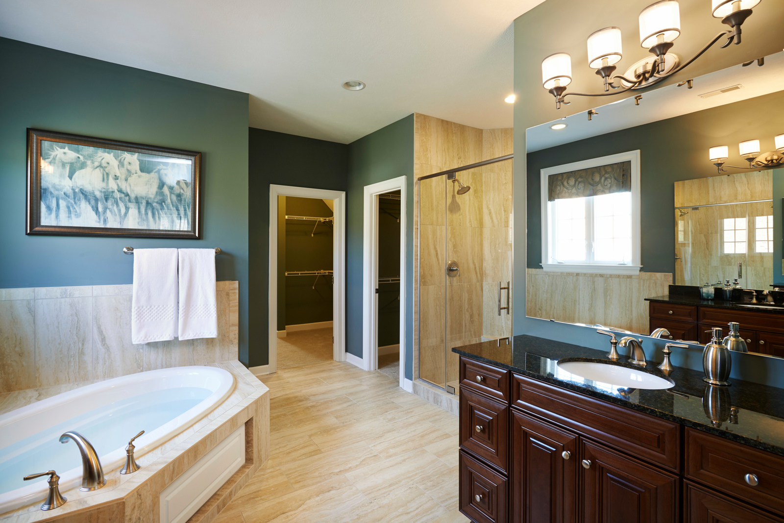 New chapel hill home model for sale nvhomes for Model home bathroom photos